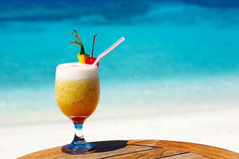 Fruity cocktail royalty free stock photography