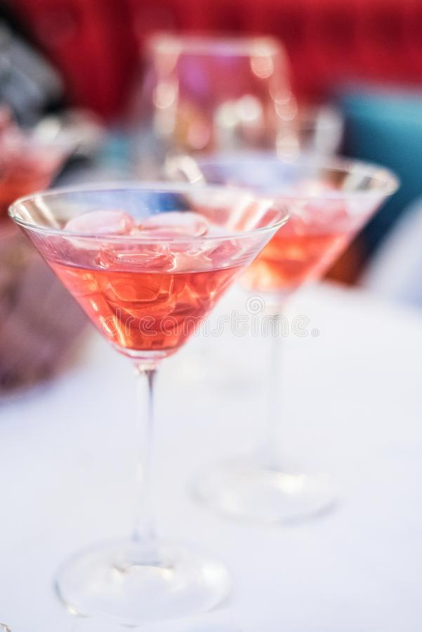 Free Fruity Cocktails In Martini Glasses Royalty Free Stock Image - 68364036