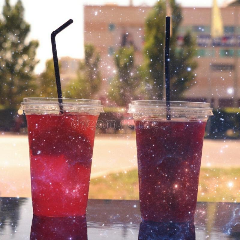 Fruity Cold Drinks royalty free stock images
