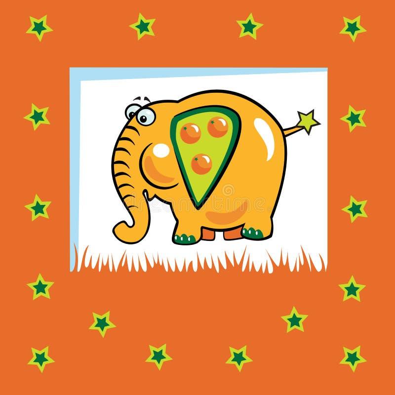 Download Fruity elephant stock vector. Illustration of harvest - 27196858