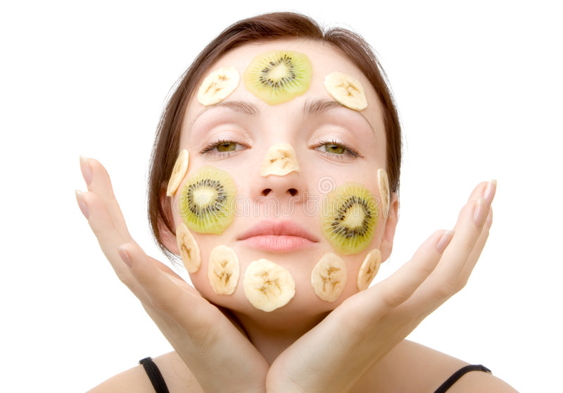 Fruity Face Treatment royalty free stock photos