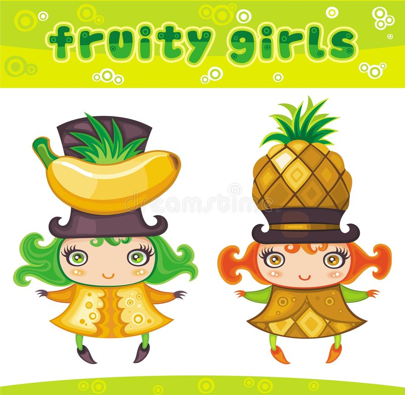 Free Fruity Girls Series 3 Stock Photography - 9349422