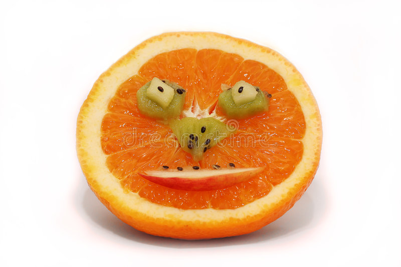 Fruity happy face stock photography