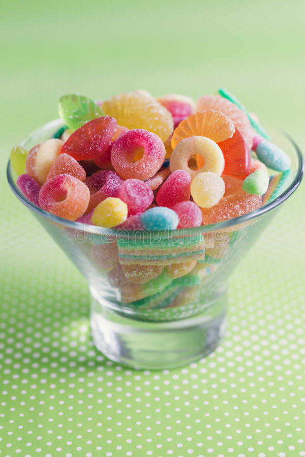 Fruity jelly sweets stock photo