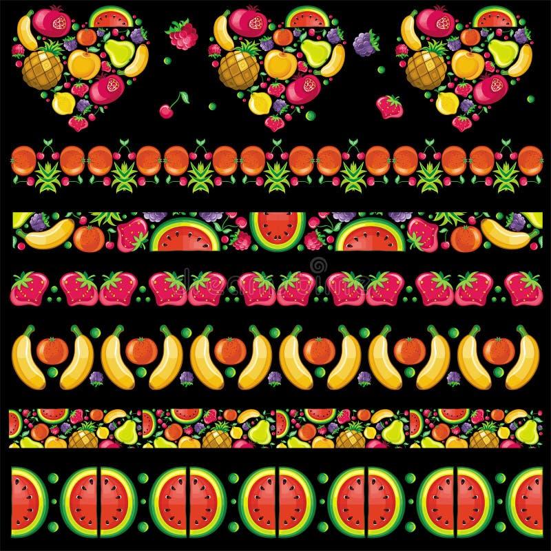 Fruity juicy patterns stock photo