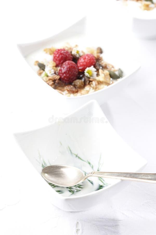 Fruity muesli stock photo