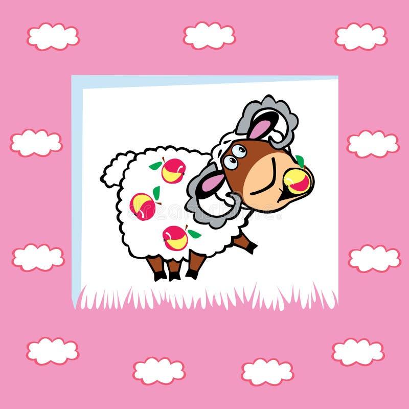 Download Fruity ram stock vector. Image of domestic, dessert, infant - 27196906