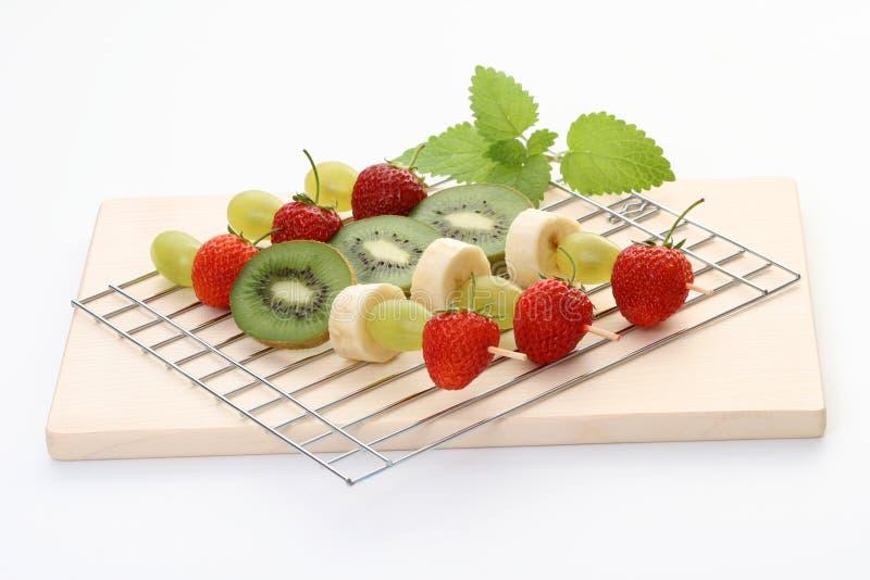 Fruity shishkabobs royalty free stock photo