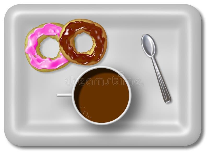 frukost royaltyfri illustrationer