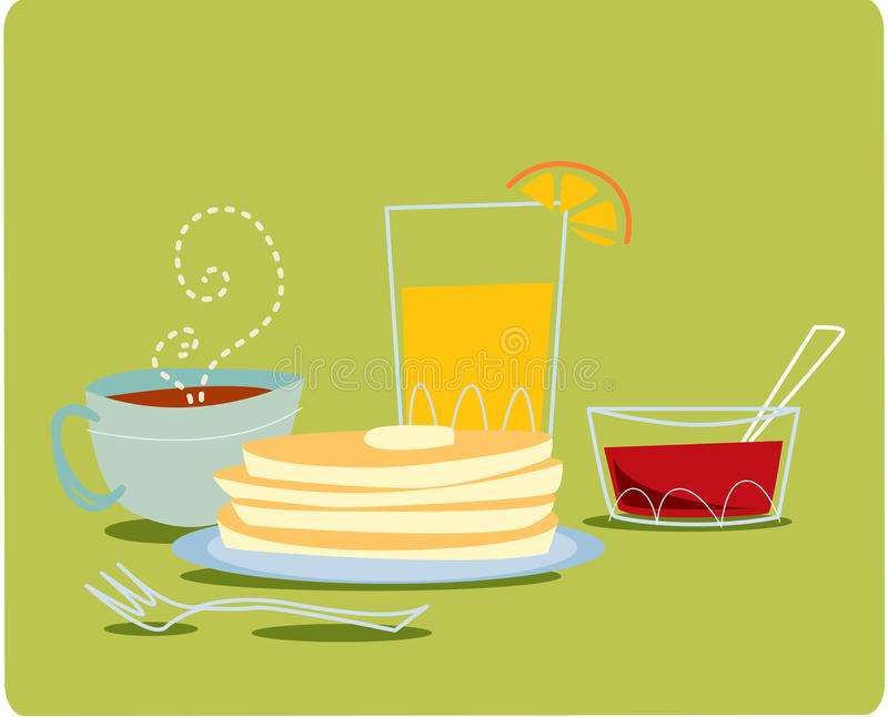 frukost stock illustrationer