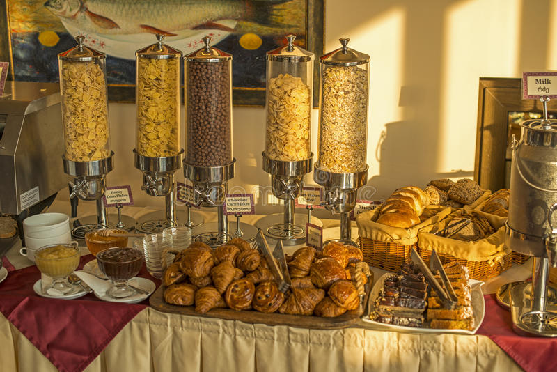 Frukost i Tbilisi royaltyfria bilder
