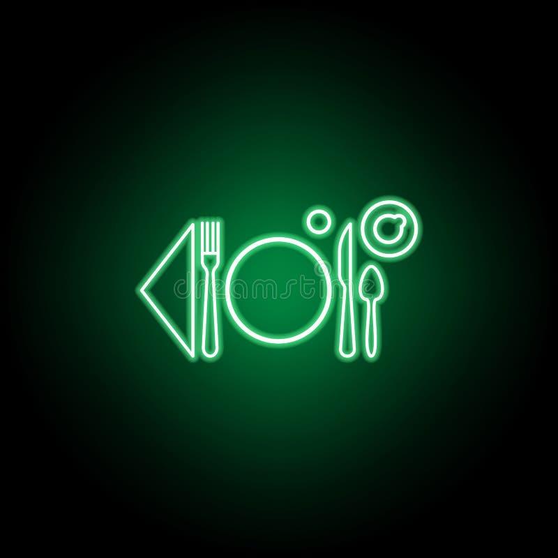 Frukost tabelletikettsymbol Kan anv?ndas f?r reng?ringsduken, logoen, den mobila appen, UI, UX vektor illustrationer