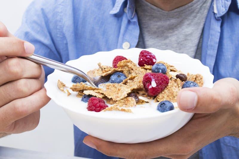 Frukostbunke royaltyfri fotografi
