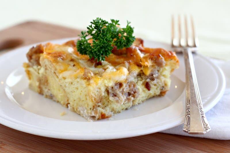 frukostcasserole royaltyfri foto