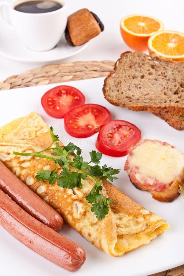 frukostkaffemål arkivbild