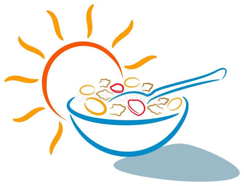 frukostlogo vektor illustrationer