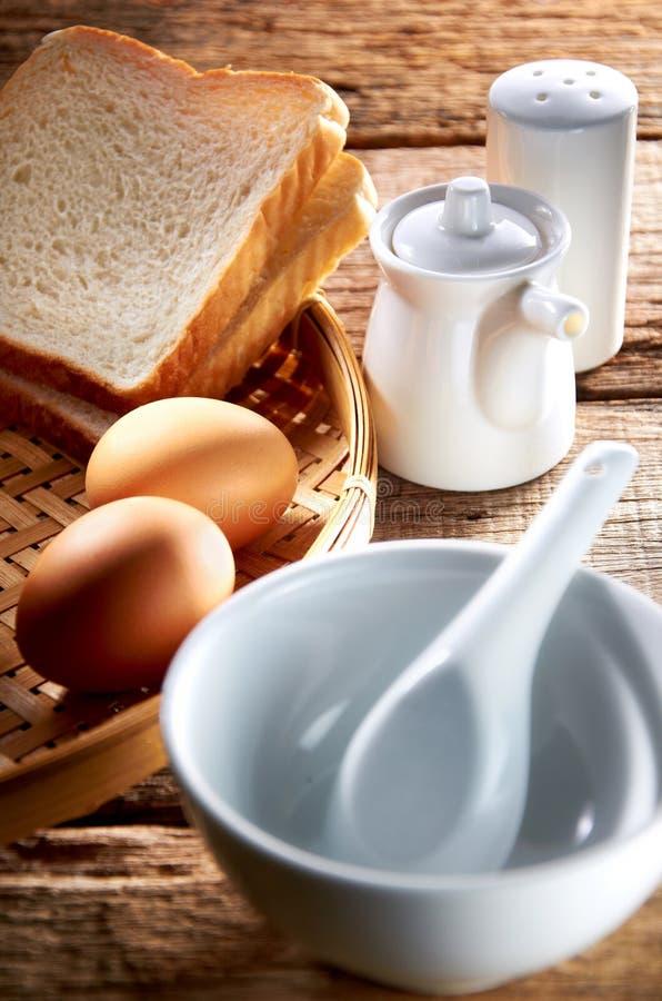 FrukostSet royaltyfria bilder