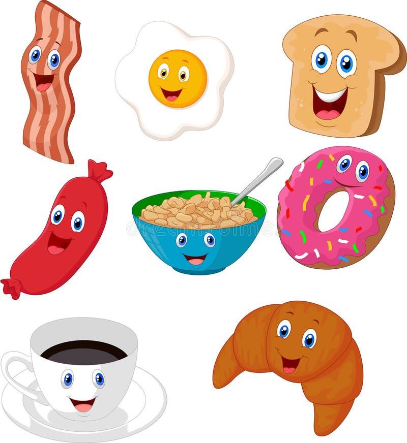 Frukosttecknad filmsamling vektor illustrationer
