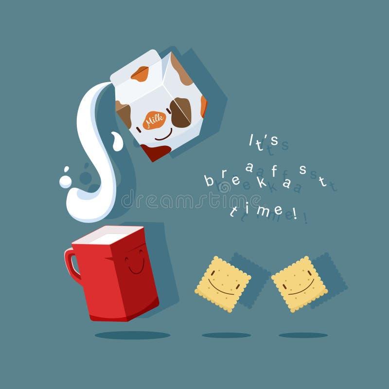Frukosttid vektor illustrationer