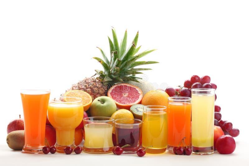 frukt bär fruktt exponeringsglasfruktsaft fotografering för bildbyråer