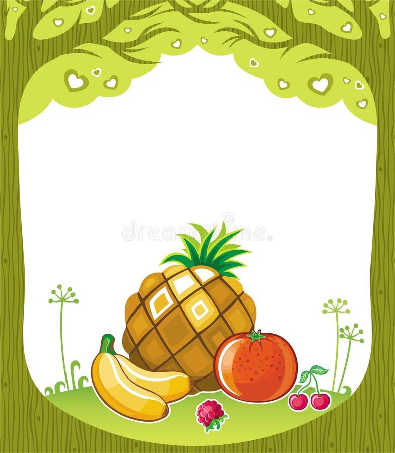 frukt- bakgrund royaltyfri illustrationer