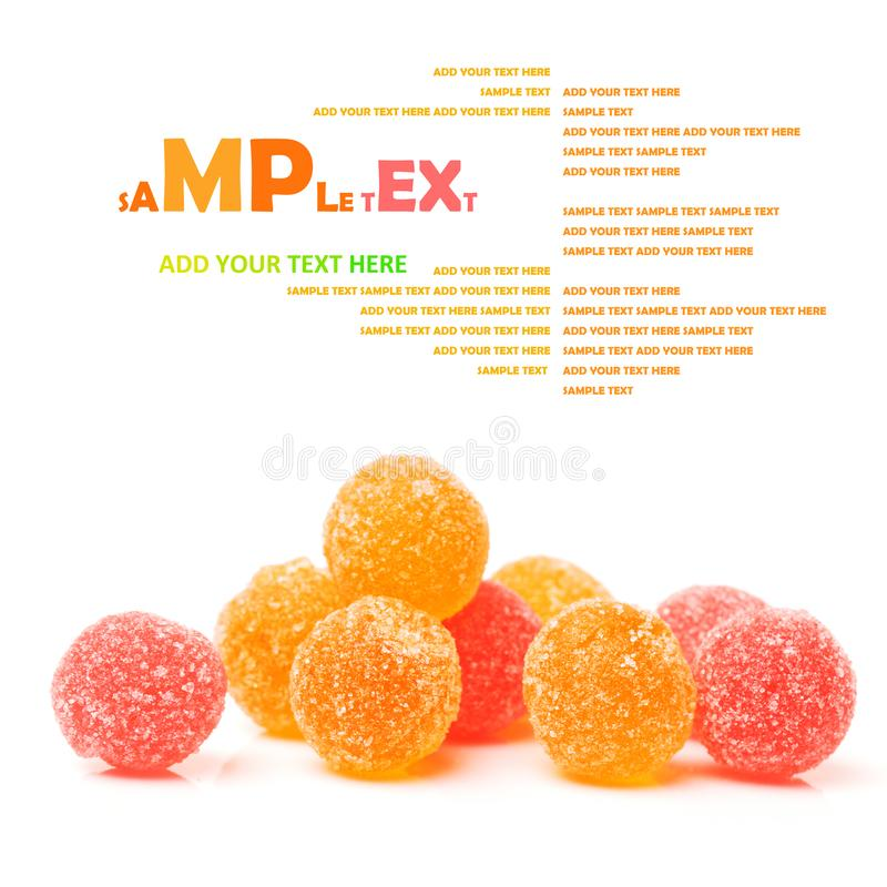 Frukt godis mång--färgade allsorts royaltyfria foton