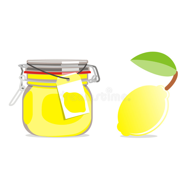 frukt isolerad driftstoppjarcitron stock illustrationer