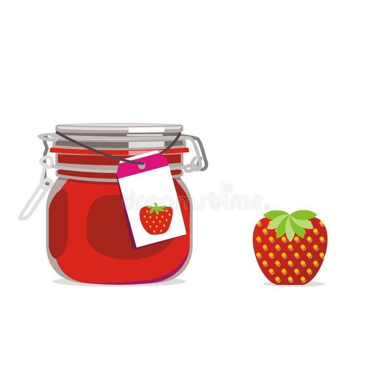 frukt isolerad driftstoppjarjordgubbe royaltyfri illustrationer