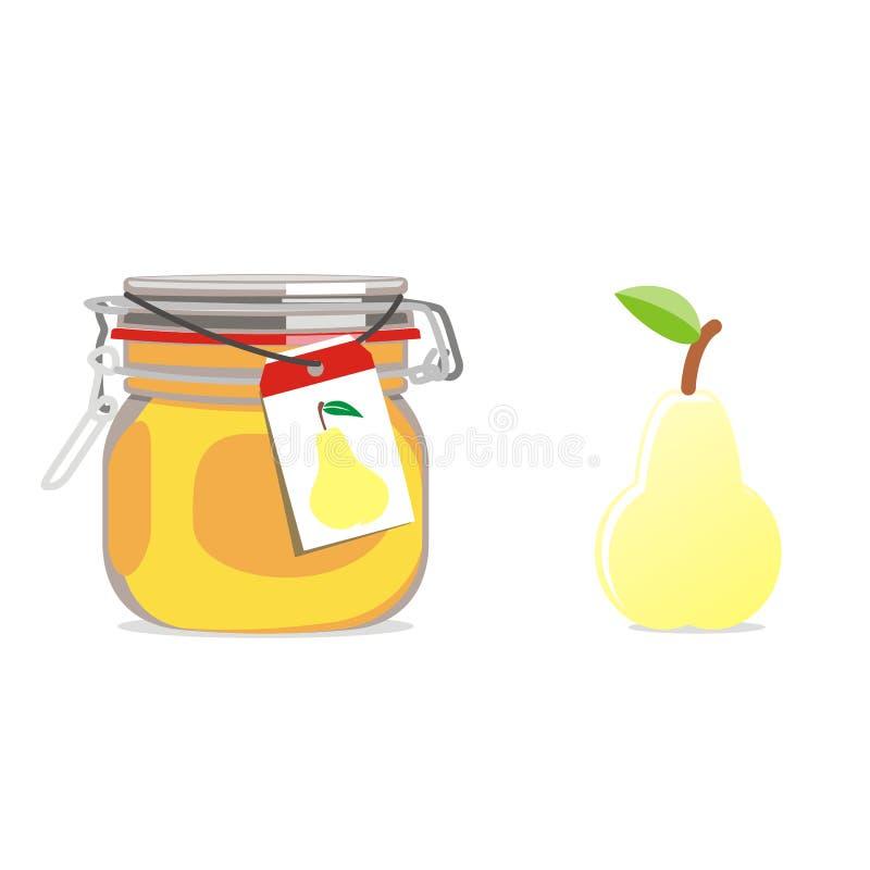 frukt isolerad driftstoppjarpear royaltyfri illustrationer