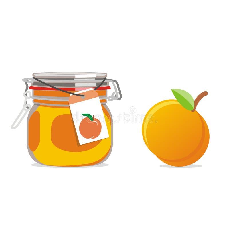 frukt isolerad driftstoppjarpersika stock illustrationer