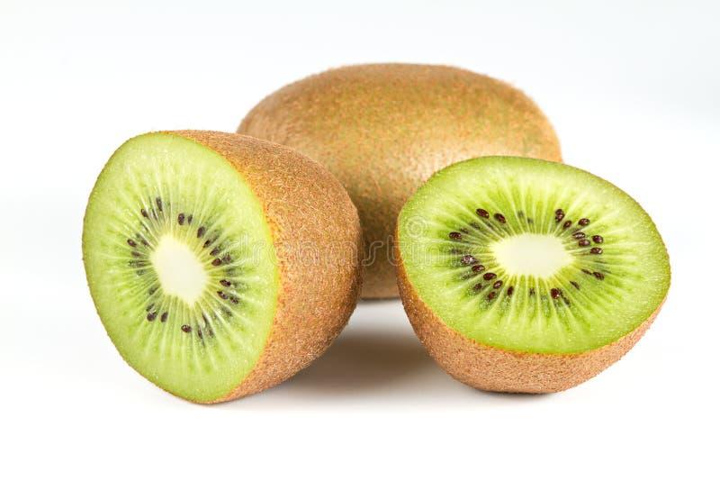 frukt isolerad kiwiwhite fotografering för bildbyråer