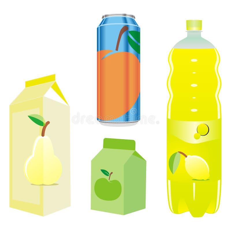 frukt isolerade fruktsaftmottagare vektor illustrationer