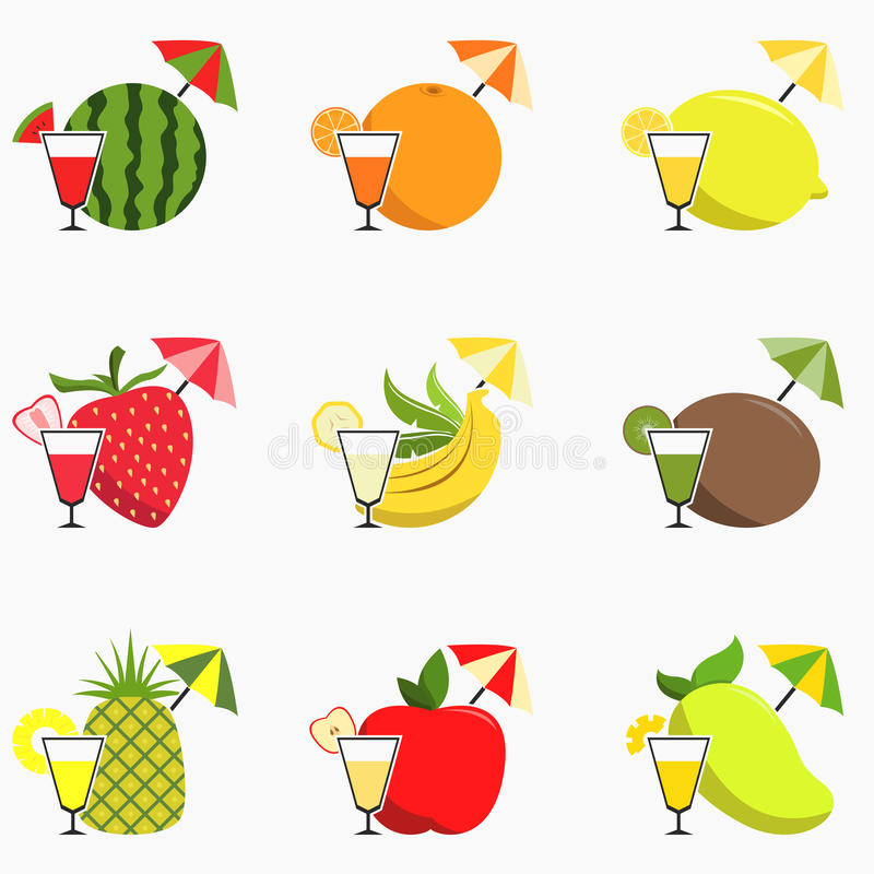 Frukt Juice Icon royaltyfri illustrationer