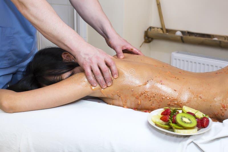 frukt- massage fotografering för bildbyråer