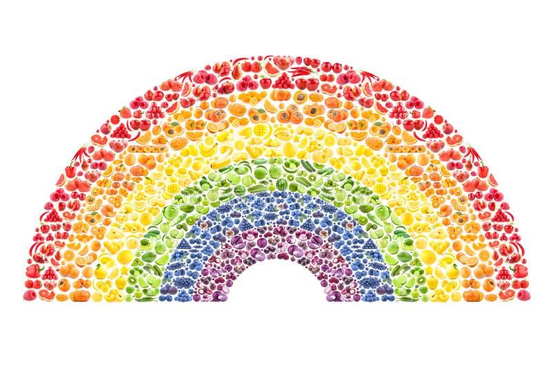 Frukt- och grönsakregnbåge arkivfoto