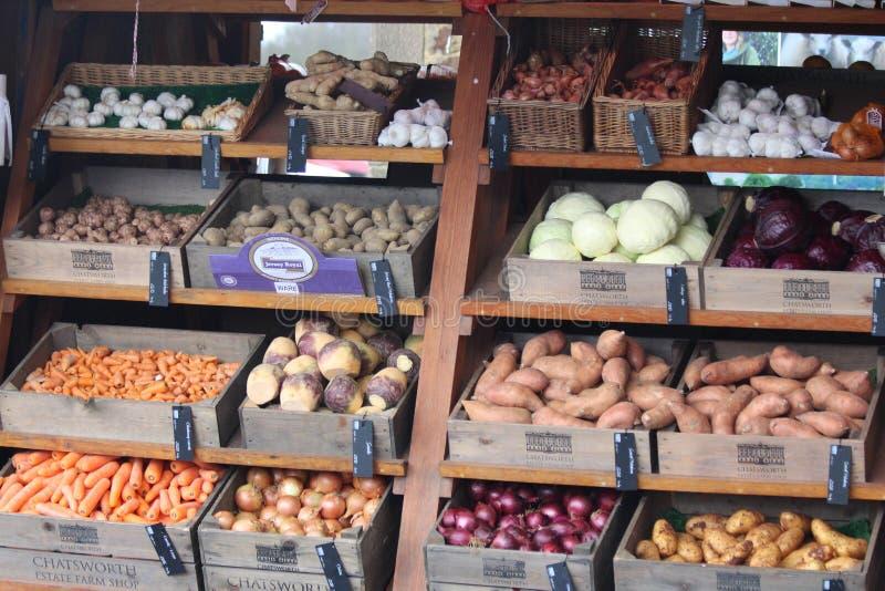 Frukt- och grönsakstall arkivbilder