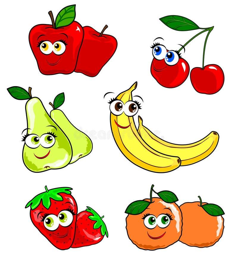 frukt parar olikt stock illustrationer
