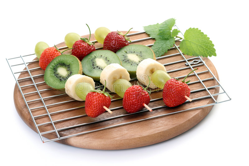 frukt- shishkabobs fotografering för bildbyråer