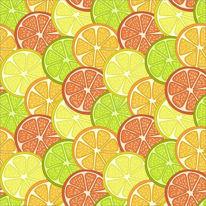 frukt skivar bakgrund stock illustrationer