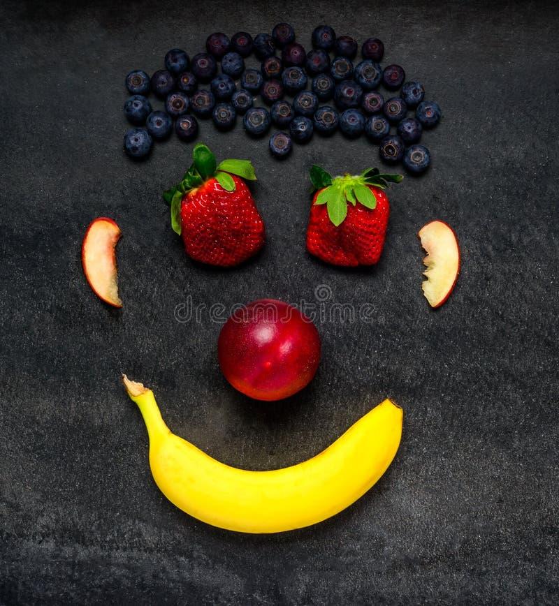 Frukt Smiley Face arkivfoto