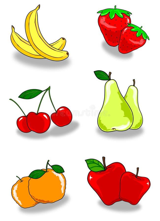 frukt två vektor illustrationer
