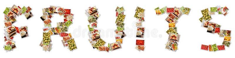 Fruktcollage vektor illustrationer