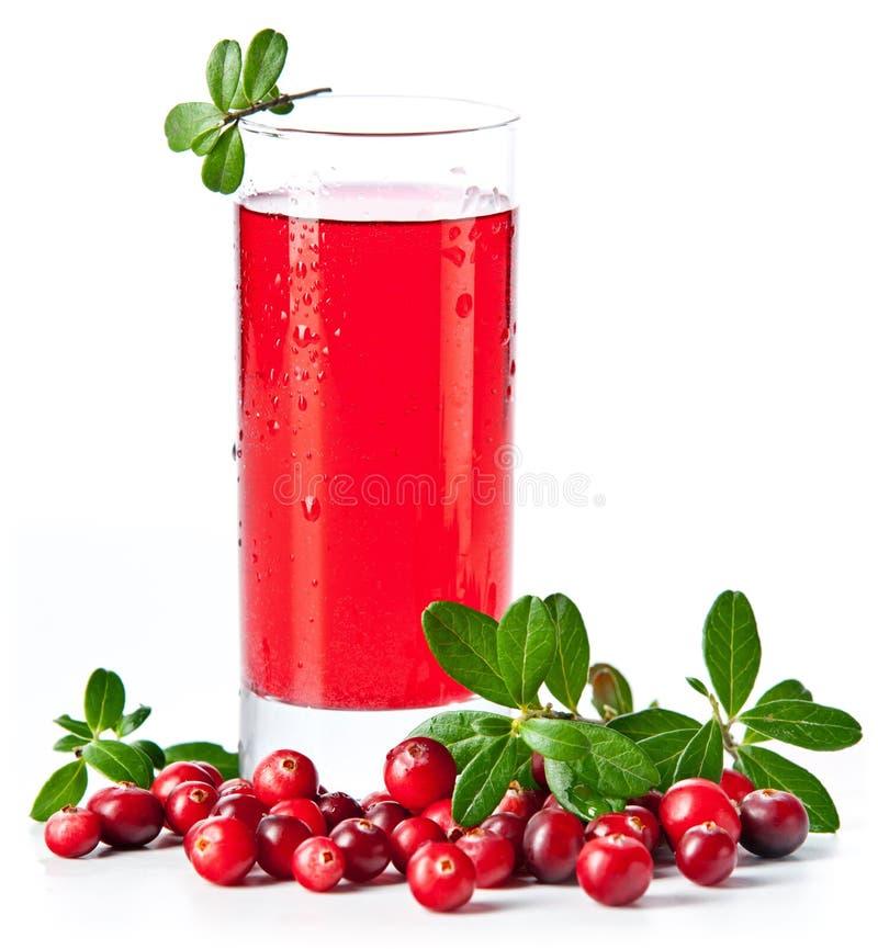 Fruktdrink som göras från cranberries arkivfoton