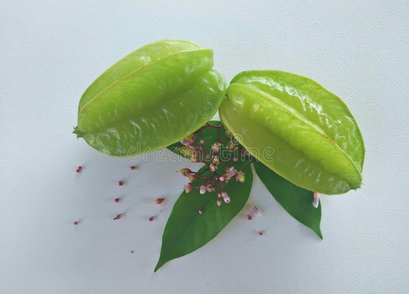 Frukten av carambolaen är enformad frukt fotografering för bildbyråer