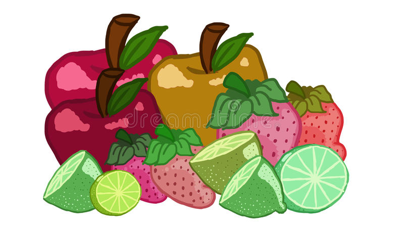 frukter stock illustrationer