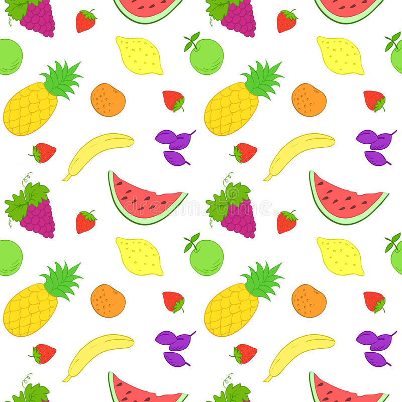 frukter mönsan seamless stock illustrationer