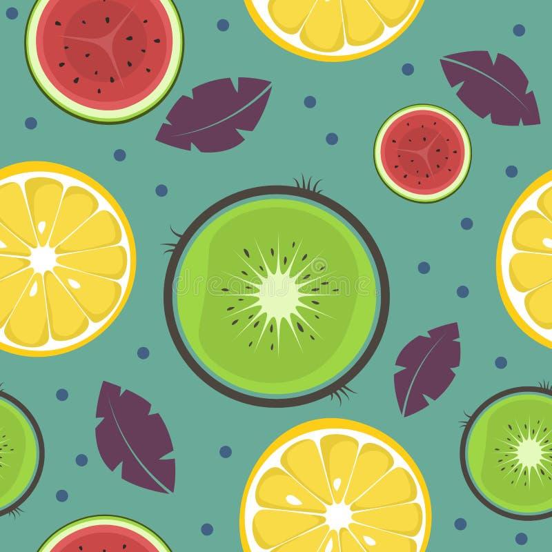 frukter m?nsan seamless Samtida konst stock illustrationer