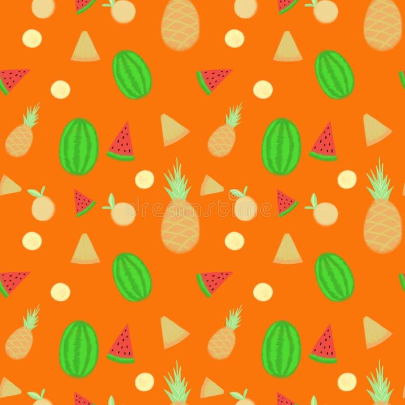 Frukter m?nstrar s?ml?s bakgrund royaltyfri foto
