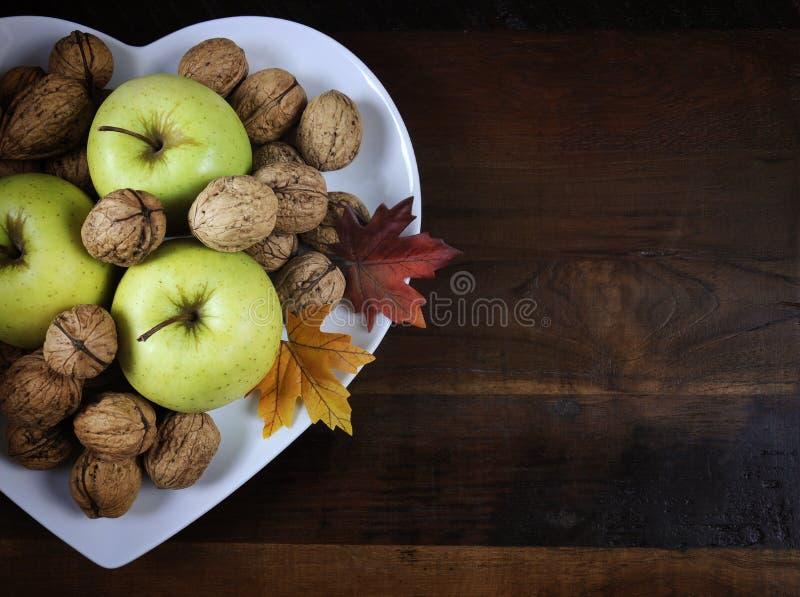 Frukter och muttrar för tacksägelseAutumn Fall skörd royaltyfria bilder