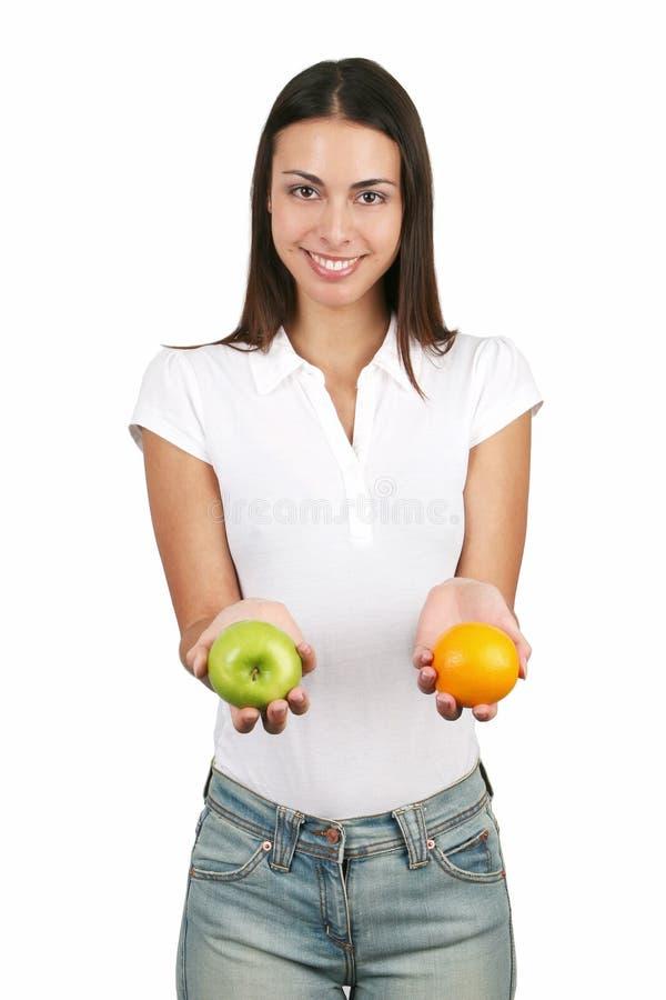 fruktflicka royaltyfri fotografi